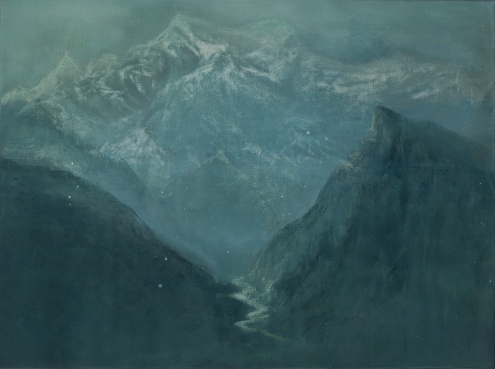 ANNAPURNA 2016<br>Oil on canvas 23.6 x 31.5 in.<br>© Kai Luther|VG Bild-Kunst, Bonn 2017