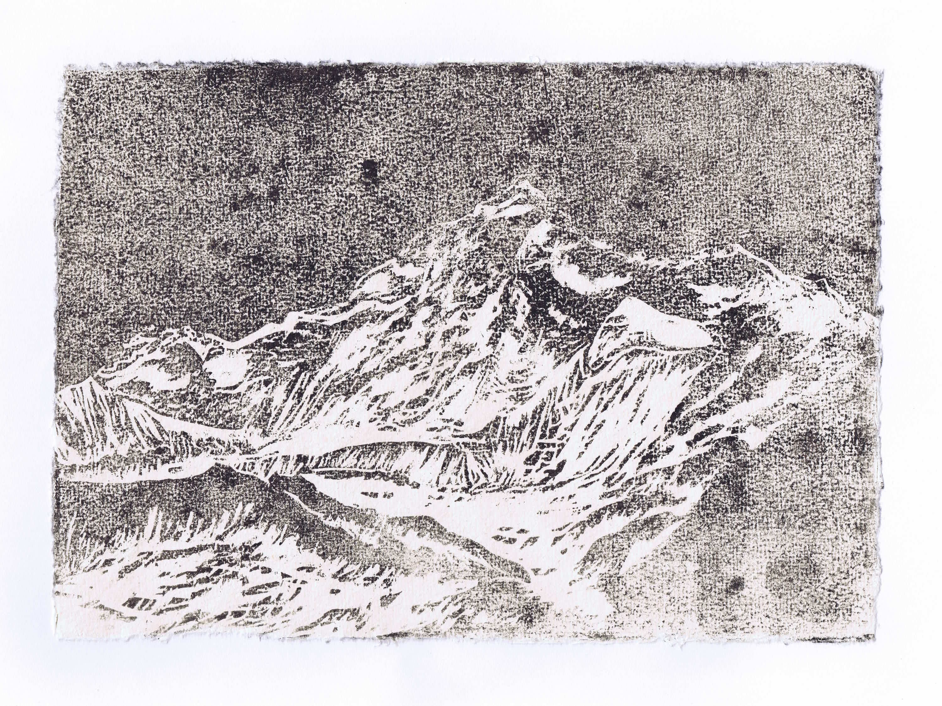 MAKALU 2016<br>Woodcut on handmade paper